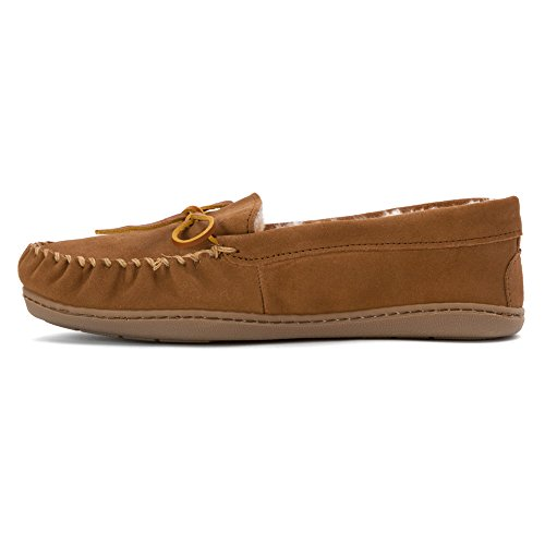 Women's Minnetonka Tan 3341 Moccasins Golden Hardsole Sheepskin aawqdgr