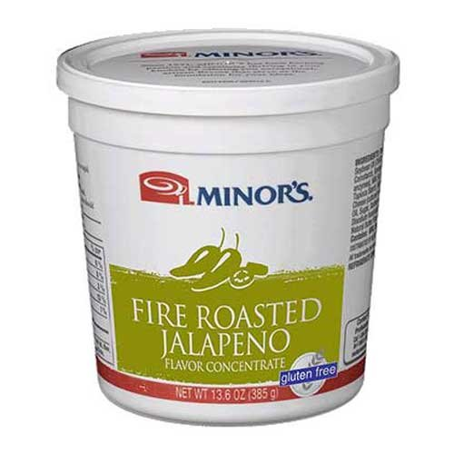 Minors Fire Roasted Jalapeno Flavor Concentrate, 13.6 Ounce - 6 per case.