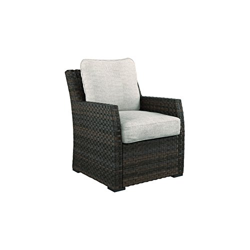 Ashley Furniture Signature Design - Salceda Outdoor Lounge Chair with Cushion - Wicker - Beige & Brown (Modular Indoor Furniture Outdoor)