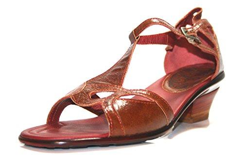 Think! - Sandalias de vestir de cuero para mujer marrón - Braun (Terra/Kombi)