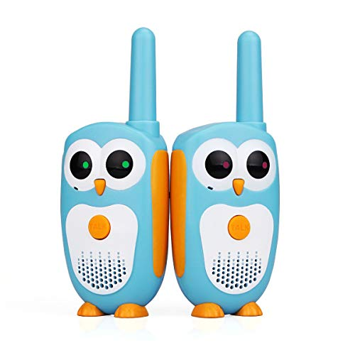 Retevis RT30 Kids Walkie Talkies Owl Appearance 1Channel 2Button Kids Toys ( Light Blue 1 Pair)