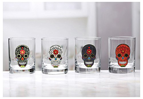 Circleware Sugar Skull Double Old Fashioned