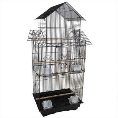 Pagoda Top Small Bird Cage (Black), My Pet Supplies