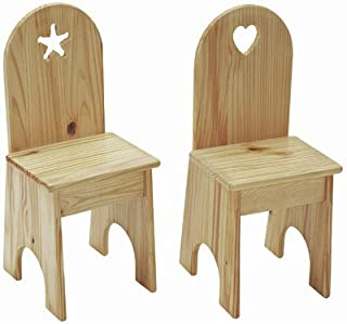 product image for Heart Kids Desk Chair Finish: Natural Lacquer