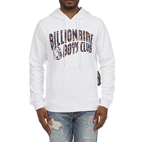 Paisley Hoody Sweatshirt - Billionaire Boys Club Paisley Arch Hoodie in White 881-6306 (White, Small)