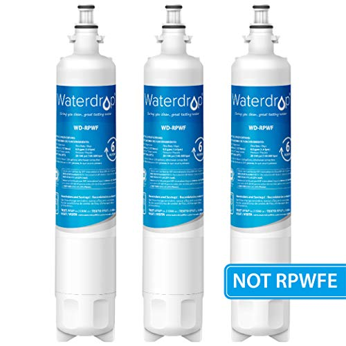 Waterdrop Refrigerator Water Filter, Compatible with GE RPWF(Not RPWFE), Pack of 3