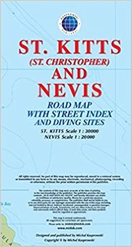 St. Kitts (St. Christopher) and Nevis Road Map 1:30K/20K ...