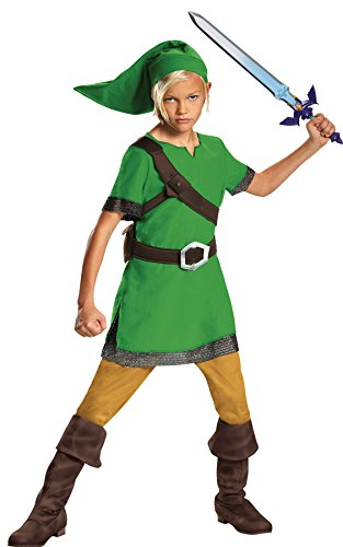 UHC Boy's Legend of Zelda Link Classic Outfit Child Halloween Fancy Costume, Child L (10-12)