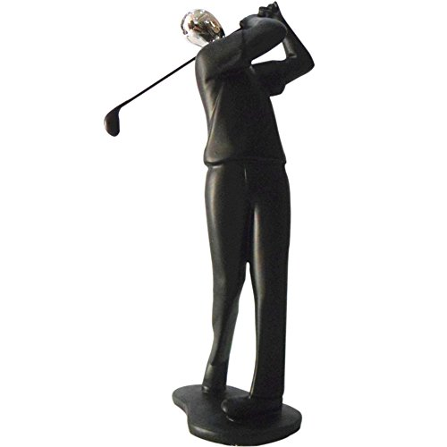 ZZ Lighting Fashion Resin Art Sports Man Figure Home Office Desk Wall Unique Decor Sculpture Holiday Birthday Gift (Golf B)