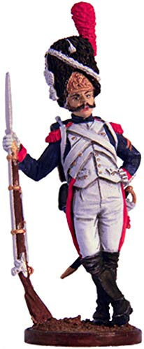 French Foot Grenadier Tin Toy Soldiers Metal Sculpture Miniature Figure Collection 54mm (Scale 1/32) (Nap-11-color)