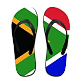 Flag Of South Africa Women's Men's Flip Flops Beach Slippers Thong Sandals
