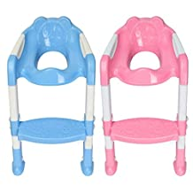 Bazaar Baby Toddler Kids Potty Toilet Training Safety Adjustable Ladder Seat Chair Step