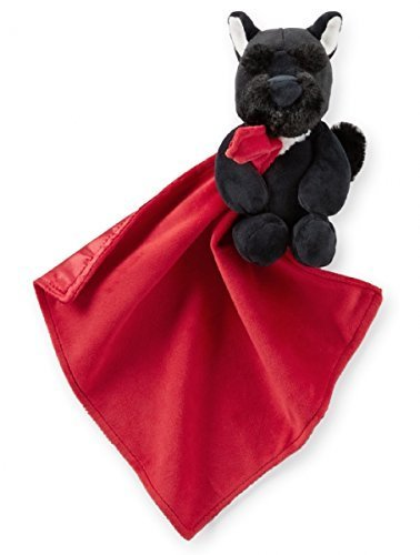 Carter's Red and Black Scottie Scotty Dog Snuggle Buddy Security Blanket ()