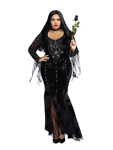 Custom Plus Size Halloween Costumes - Dreamgirl Women's Plus Size Frightfully Beautiful, Black, 2X
