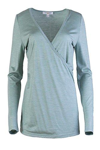M Camisas Silk 1 Mujer Grün Casual Para and 2 arin qpFwp1U