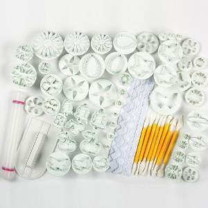 Tobson 21 Sets (68pcs)cake Decration Tool Set By Catalina Fondant Cake Cutter Mold Sugarcraft Icing Decorating Flower Modelling Tools,DG068,White