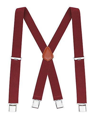 Buyless Fashion Mens Suspenders Elastic Adjustable 48