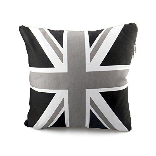 Black/Grey Union Jack Car Rest Back Pillow Cotton Mats Quilt Interior Decor For MINI COOPER S Clubman Countryman R55 R56 R57 R60 R61 F55 F56