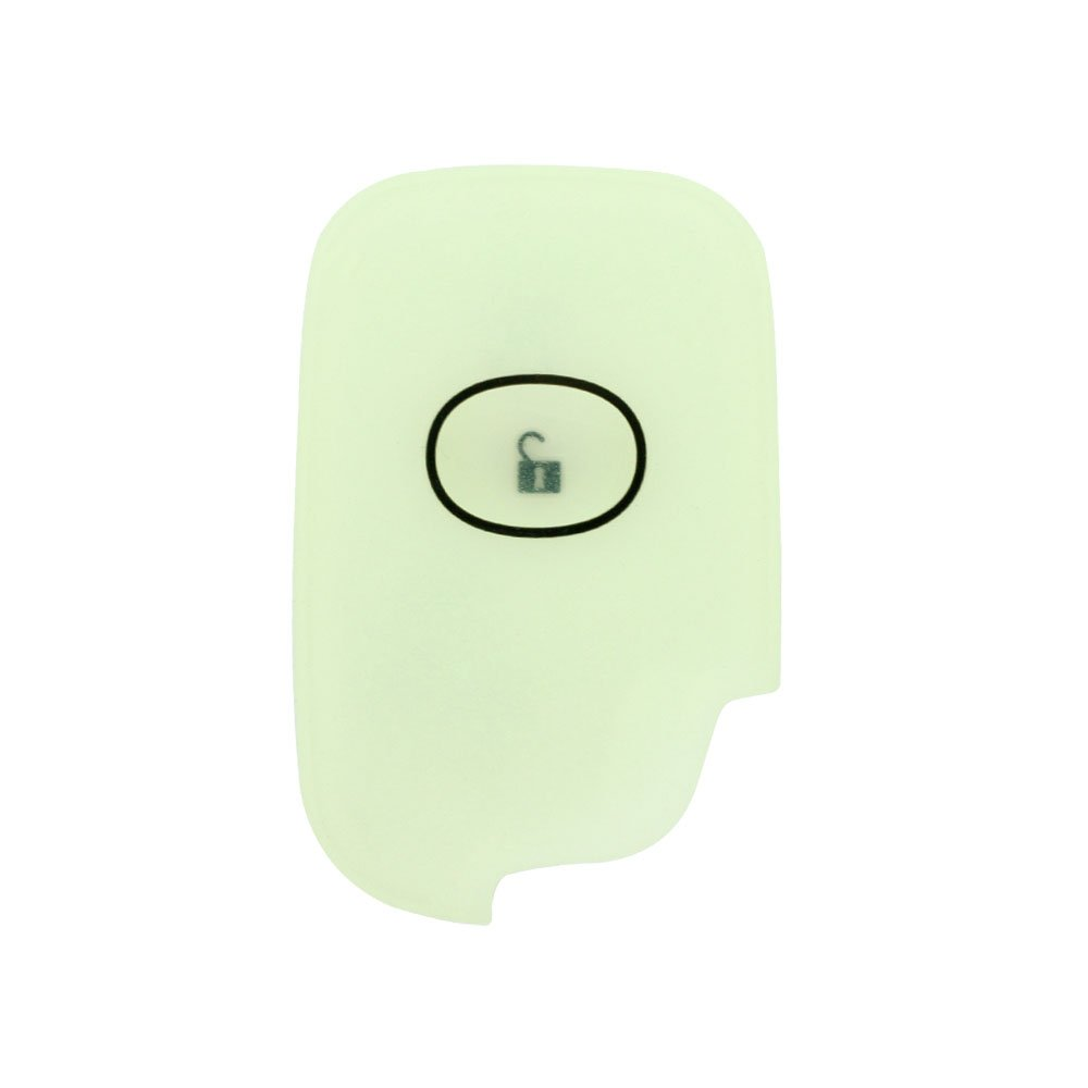 SEGADEN Silicone Cover Protector Case Skin Jacket fit for LEXUS 4 Button Smart Remote Key Fob CV2420 Yellow