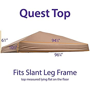 Amazon com : for Quest 12 x 12 Straight Leg Canopy Push/Pull