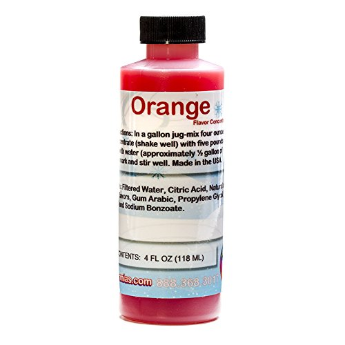 Orange Shaved Ice and Snow Cone Flavor Concentrate 4 Fl Ounce ()