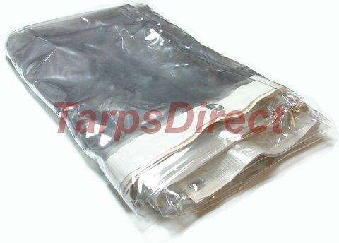 Clear Canopy Crystal - 8' x 10' Clear Vinyl Tarp - 20 MIL