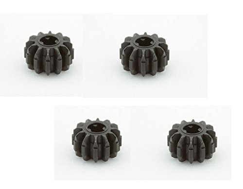 Lego Parts: Technic, Gear 12 Tooth Double Bevel (PACK of 4 - Black) (Jones Fighter Indiana Plane)