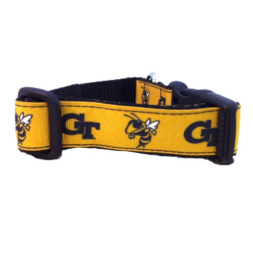 NCAA Georgia Tech Yellow Jackets Dog Collar (Team Color, Medium)