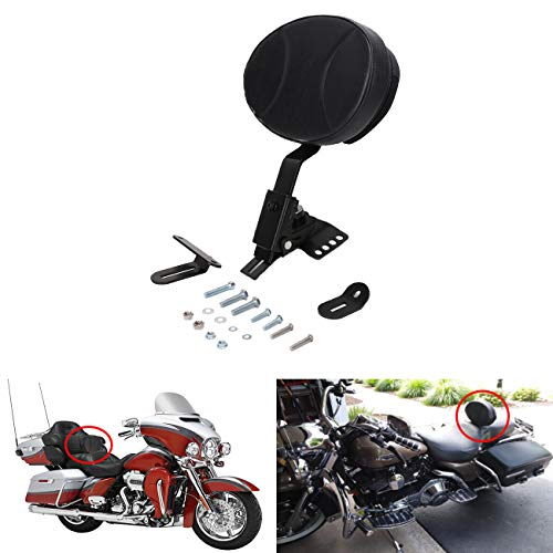 AUFER Adjustable Plug-in Rider Backrest Custom for Harley Davidson Touring 1997-2019 Road King/Street Glide/Road Glide/Electra Glide ()