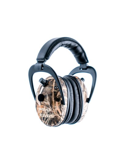 Pro Ears - Predator  Gold - Hearing Protection and Amplfication - NRR 26 - Contoured Ear Muffs -  CM4 Camo by Pro Ears