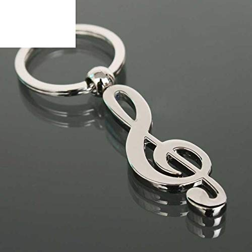 Hot Nw Metal Musical Note Key Chain Keychain Keyring Cool Luxury Car Ring Bag Necklace Pendant Keychains for Men Man Women Girl Gift Jewelry K1602