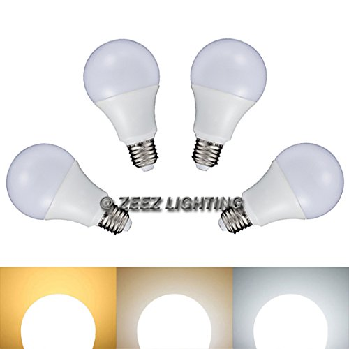 ZEEZ Lighting - LED A-Shaped A19 Light Bulb 7W Equivalent 60W Incandescent Lamp - Daylight Cool White - 4 Packs
