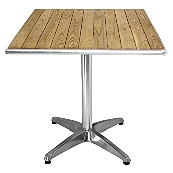 Amazoncom Square Ash Top Restaurant Table H X W - 4 top restaurant table