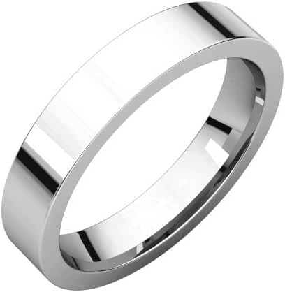 Platinum 4mm Flat Comfort Fit Band, Ring Size 6
