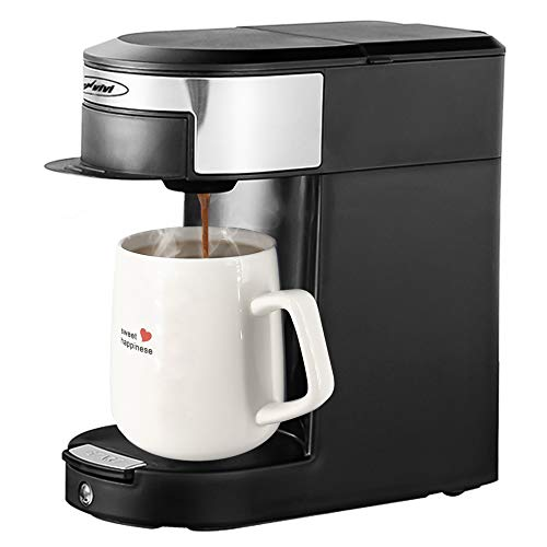 Coffee Maker,Single Serve Coffee Brewer for Coffee Pods and Tea Pods (NOT K-CUP), 1 Cup Hotel & Hospitality Coffeemaker,Black