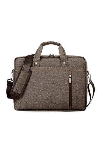 Veenajo Unisex Oxford Laptop Sleeve Messenger Shoulder Bag for 15 – 15.6-Inch Laptop / Notebook / MacBook / Ultrabook / Chromebook Computers Brown