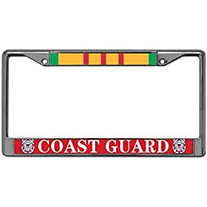 Amazon Com Us Soldier Coast Guard License Plate Frame