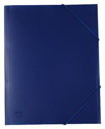 exxo by HFP–Cartellina con elastico/Elasticizzato cartella A4in plastica rigida 310 x 245 mm blue Kim Kranholdt GmbH 51328