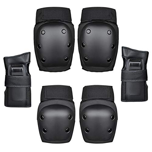 Kids-Protective-Gear-Set-6-in-1-Adults-Teens-Kids-Knee-Elbow-Pads-Wrist-Guards-for-Skateboarding