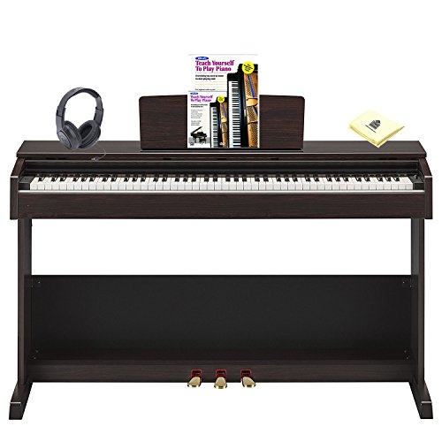 Yamaha Arius YDP-103R 88 Key Home Digital Piano with Graded Hammer Keyboard  included Matching Bench, Headphone, Piano (Book & CD) and Zorro Sounds
