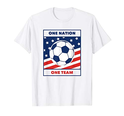 One Nation | One Team | United States - States United Soccer T-shirt