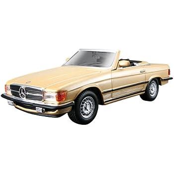 Mercedes-benz 300 sl cabriolet r107 año de fabricación 1986 inca rojo 1:18 norev