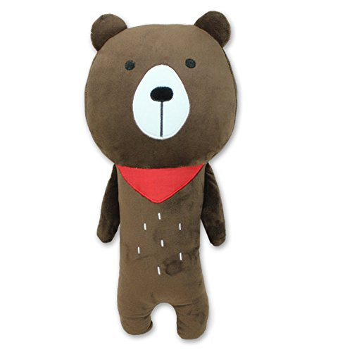 Apomelo Cute Bear Car Seat Shoulder Strap Pad for Kids,Adjustable Seat Belt Buddy Pillow Car Seat Strap Cover Neck Shoulder Support Cushion Travel Gear Seat Pets, Brown Bear