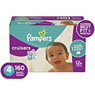 Size 4, 160 Count - Pampers Cruisers Disposable Baby Diapers, ONE MONTH SUPPLY