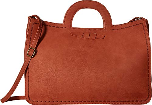 T-Shirt & Jeans Women's Large Top-Handle Convertible Tote Rust One Size