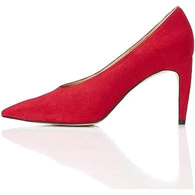 Find - Zapato rojo de tacón con empeine alto