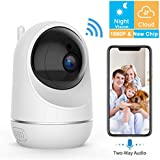 VIDEN WiFi IP Camera 1080P, Security Camera Pet/Dog/Elder/Baby Camera Monitor, with Night Vision/Motion Detection/Two-Way Audio, Works with Android/iOS[New 2019]