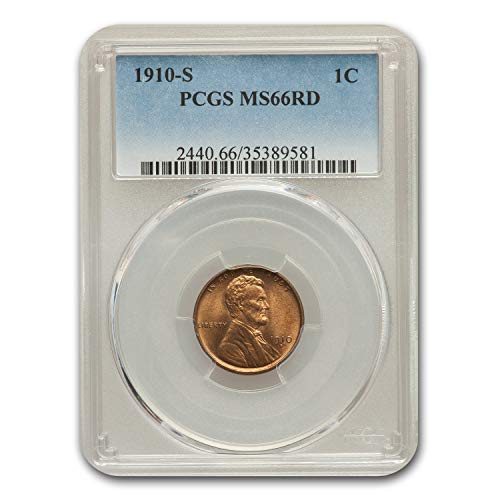 1910 S Lincoln Cent MS-66 PCGS (Red) Cent MS-66 PCGS