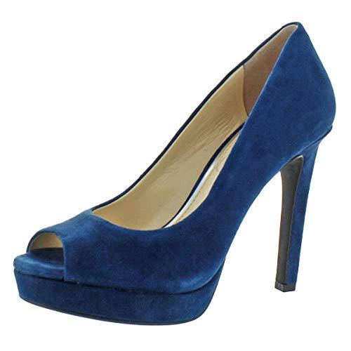Jessica Simpson Women's Dalyn Slip On Peep-Toe Heels Shoes Blue Size 12