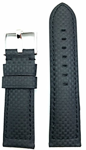 eather Watch Band | Carbon Fiber, Medium Padded Replacement Wrist Strap that brings New Life to Any Watch (Mens Standard Length) ()